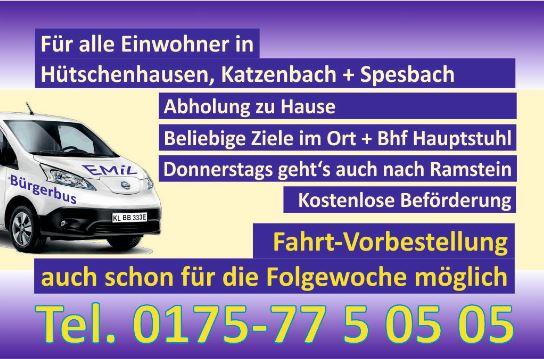 Informationen über den Bürgerbus Emil